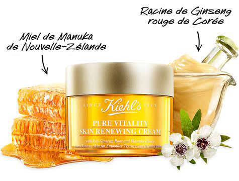 Ingrédients Pure Vitality Skin Renewing Cream